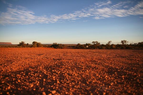Dry Australian land