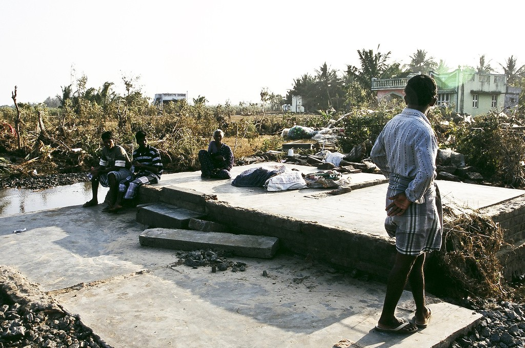 2004 tsunami destruction.
