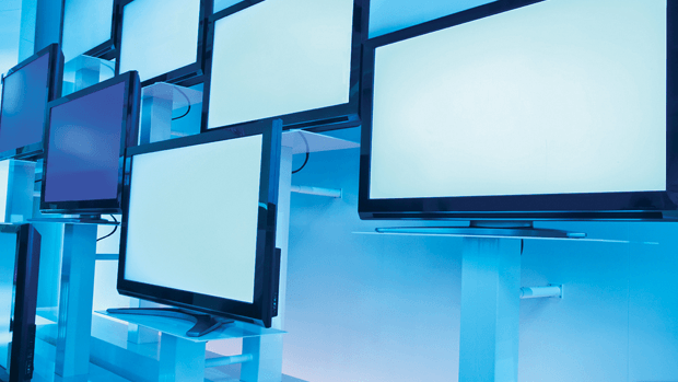 LCD televisions screens.