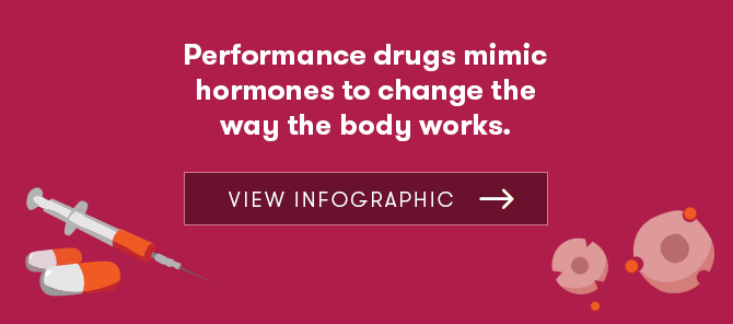 Performance drugs infographic