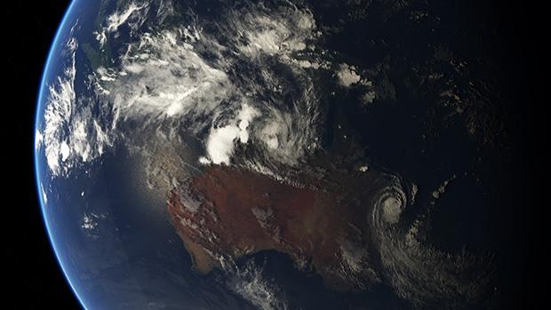 A satellite view of tropical cyclones in Australia