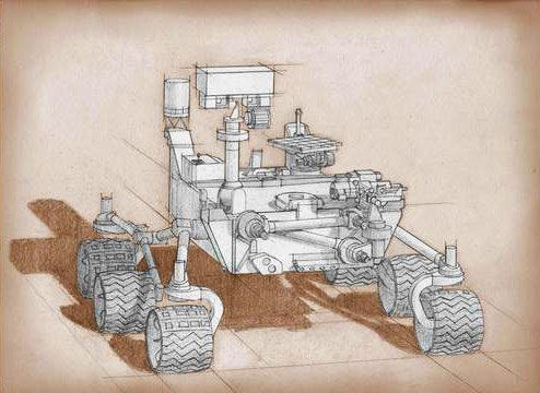 Artist's concept of the 2020 Mars Rover