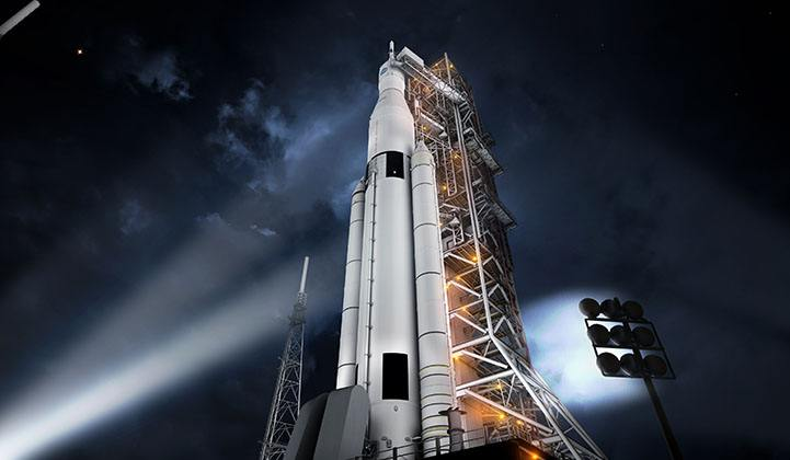 Picture of the NASA Space Launch System