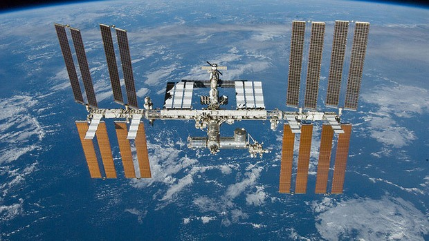 The International Space Station in space