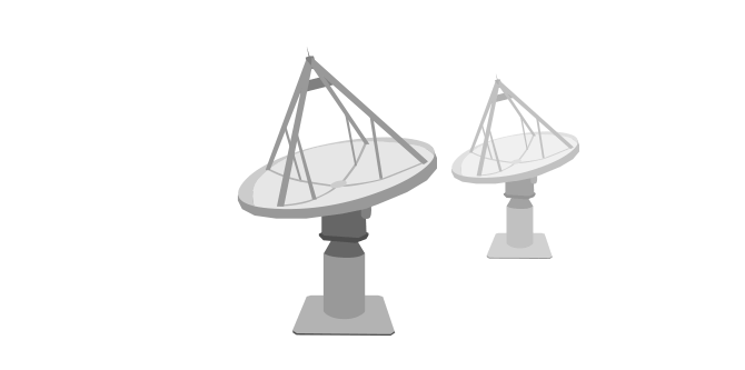 Illustration of the ASKAP dishes