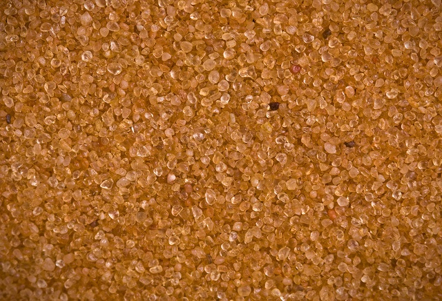 Close up view of sand from dunes in Utah, USA