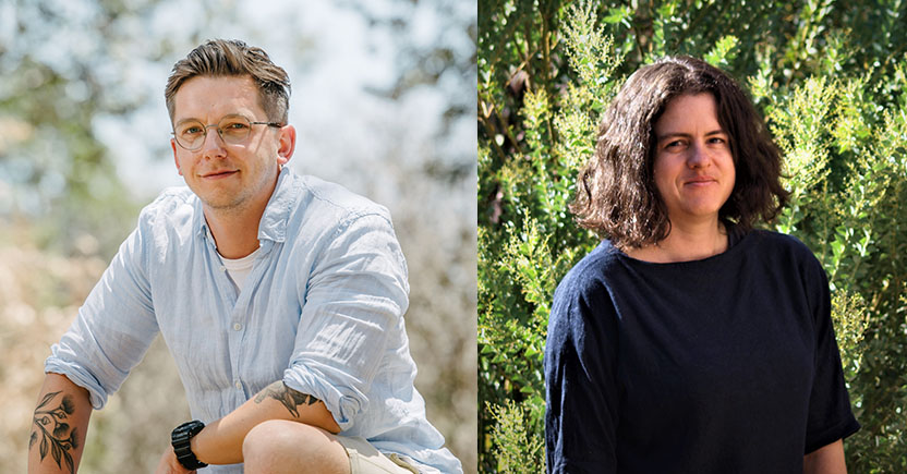 Adam Frew (left) and Jana Sperschneider.