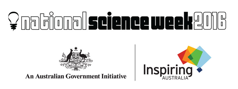 National Science Week and Inspiring Australia logos