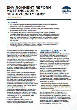 Cover of the environment reform position statement