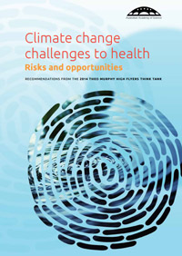 Climate change challenges to health: Risks and opportunities