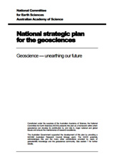 National strategic plan for the geosciences: Geoscience—unearthing our future