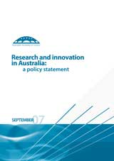 Research and innovation in Australia: a policy statement