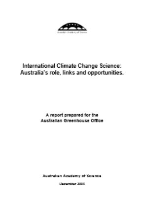 Report—International climate change science: Australia's role, links and opportunities