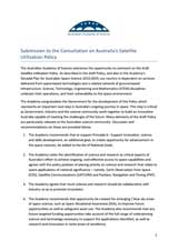 Submission—Consultation on Australia's satellite utilisation policy