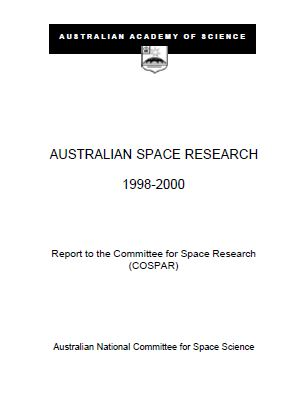 Report—Australian Space Research 1998-2000