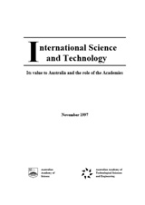 Report—International science and technology: Its value to Australia and the role of the Academies