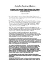 Response—Strategic Roadmap Exposure Draft for the National Collaborative Research Infrastructure Strategy