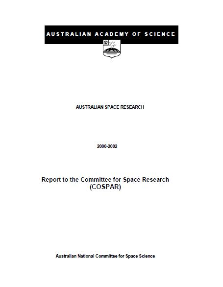 Report—Australian Space Research, 2000-2002
