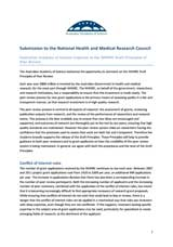 Submission—National Health and Medical Research Council draft principles of peer review