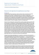 Response—Agricultural Competitiveness White Paper